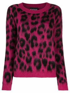 Boutique Moschino leopard print jumper - PINK