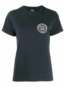 A.P.C. logo print T-shirt - Blue