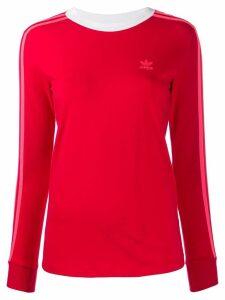 Adidas three-stripe T-shirt - Red