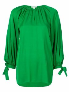 Layeur long-sleeve flared blouse - Green