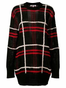 McQ Alexander McQueen oversized plaid sweater - Black
