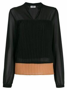 Liu Jo pleated long sleeve blouse - Black