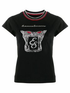 Ermanno Scervino logo printed T-shirt - Black
