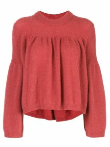 Designers Remix bell sleeved jumper - Red