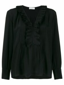 Sandro Paris long-sleeved ruffle blouse - Black