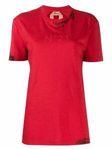 Nº21 splatter logo T-shirt - Red
