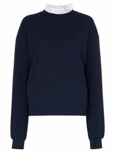 Ninety Percent ruffled neck sweatshirt - Blue