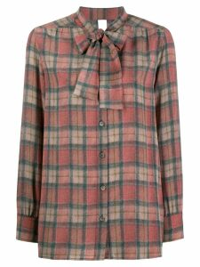 Ultràchic tartan print shirt - Red