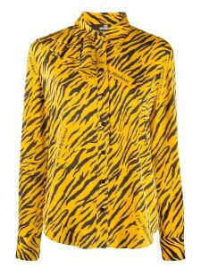 Love Moschino all over logo print blouse - Yellow