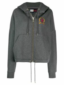 Tommy Hilfiger embroidered logo hoodie - Grey