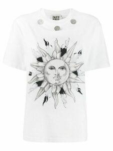 Fausto Puglisi coin embellishment T-shirt - White
