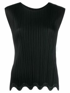 Pleats Please Issey Miyake pleated design blouse - Black