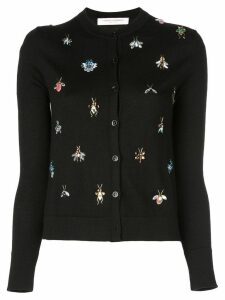 Carolina Herrera slim-fit knitted cardigan - Black