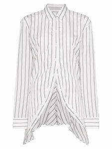 Y/Project striped asymmetric shirt - White