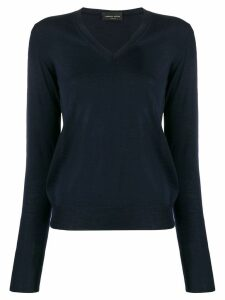 Roberto Collina slim-fit V-neck pullover - Blue