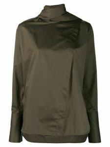 Eudon Choi stand up collar blouse - Green