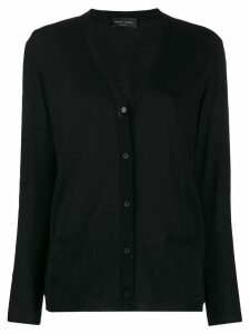 Roberto Collina relaxed-fit V-neck cardigan - Black