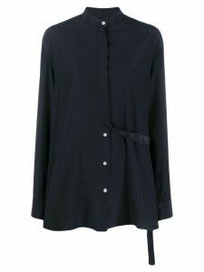 Jil Sander mandarin collar shirt - Blue
