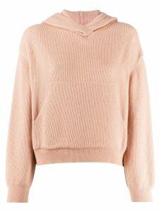 Nanushka ribbed-knit hoodie - Pink