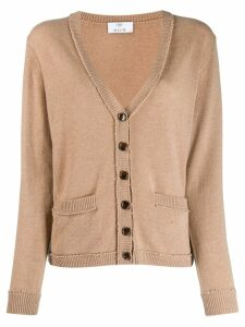 Allude V-neck cardigan - Brown