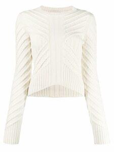 Alexander McQueen chevron knit jumper - NEUTRALS