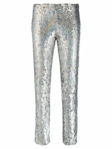 P.A.R.O.S.H. sequinned skinny-fit trousers - Silver