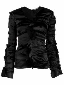 Acne Studios Ruffled satin blouse - Black