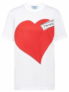 Prada heart print T-shirt - White