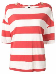 Bassike button detail boxy T-shirt - Red