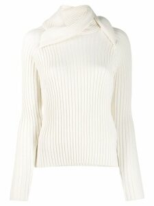 Y/Project ribbed knit sweater - White