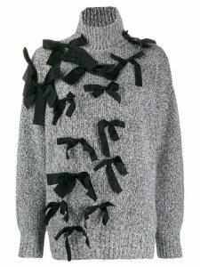 Brognano ribbon appliqué jumper - Black