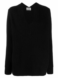 Acne Studios boxy v-neck sweater - Black