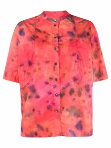 Rokh tie-dye print shirt - Red