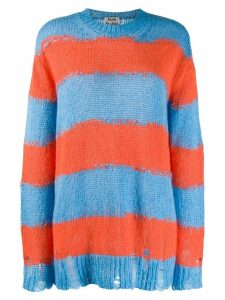 Acne Studios distressed striped sweater - Blue