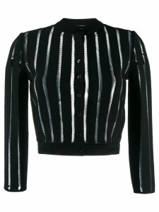 Alexander McQueen sheer panelled knitted cardigan - Black