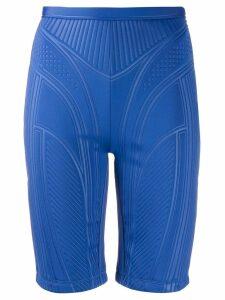 Mugler fitted bike shorts - Blue