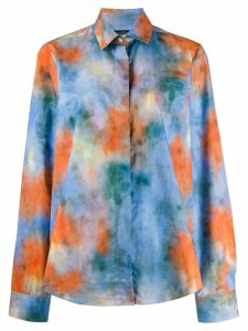 Rokh tie-dye print shirt - Blue