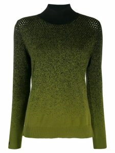 Fendi gradient turtle neck sweater - Green