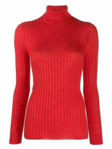 Gucci Fine silk turtleneck knitted top - Red