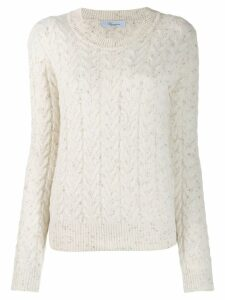 Blumarine cable knit jumper - White