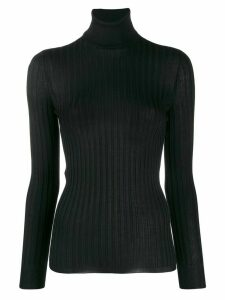 Gucci Fine silk turtleneck knitted top - Black