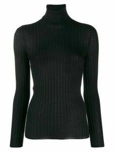 Gucci Fine silk turtleneck knitted top - Black
