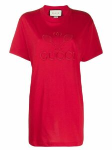 Gucci T-shirt with Gucci Tennis embroidery - Red