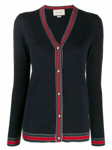 Gucci Merino wool knitted cardigan - Blue