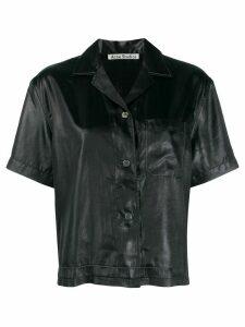 Acne Studios boxy bowling shirt - Black