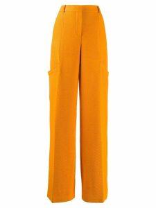 Jacquemus tailored wide leg trousers - ORANGE