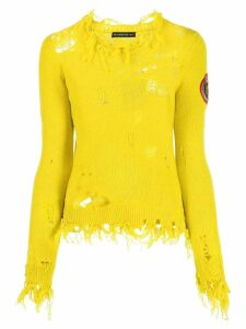 Etro distressed knit jumper - Yellow
