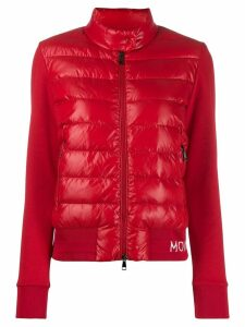 Moncler fabric and padded zipped jacket - Red