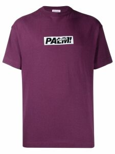 Palm Angels logo printed T-shirt - PURPLE