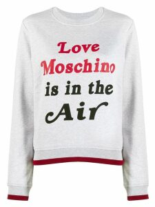 Love Moschino logo print sweatshirt - Grey